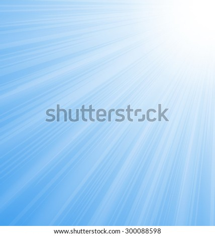 Illustration Abstract Blue Sky Background Sun Rays shine vibrant - vector - stock vector