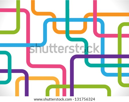 Illustration: Abstract composition on a white background.