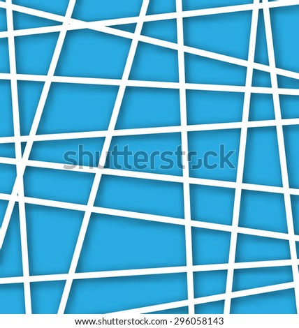 Illustration Abstract Geometric Background with Polygons - Vector