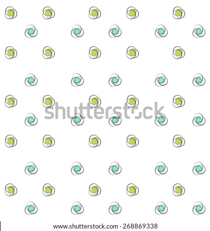 Illustration Abstract Seamless Texture with Colorful Objects, Geometric Pattern - Vector - stock vector