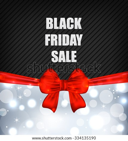 Illustration Advertising Background for Black Friday Sales  - Vector - stock vector