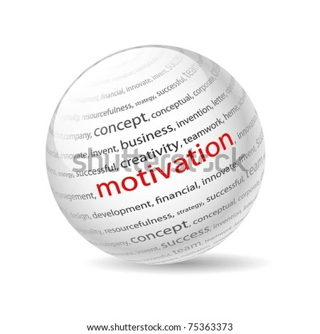 Illustration  ball with inscription motivation, on a white background. Vector. - stock vector
