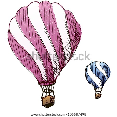 Illustration balloon color - stock vector