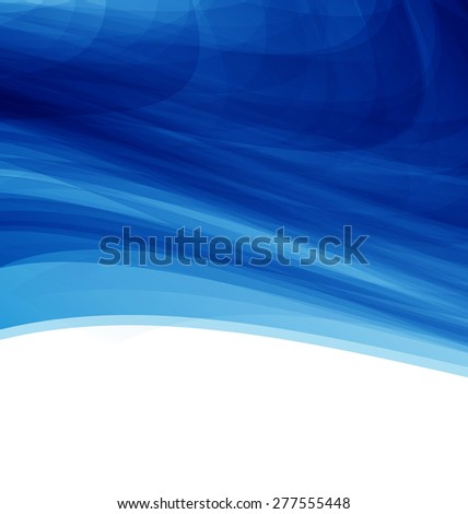 Illustration Blue Futuristic Abstract Background, Modern Template - Vector