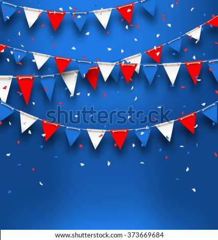 illustration patriotic background bunting flags happy