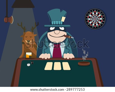 illustration.card player. vector