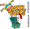 Illustration Celebrating April Fools' Day - stock vector
