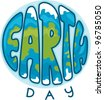 Illustration Celebrating Earth Day - stock photo
