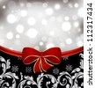 Illustration Christmas floral background, ornamental design elements - vector - stock vector