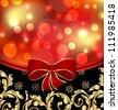 Illustration Christmas floral ornamental decoration for design packing - vector - stock vector