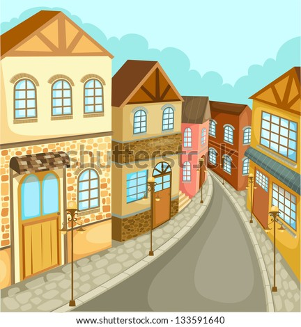 illustration Cityscape vector - stock vector