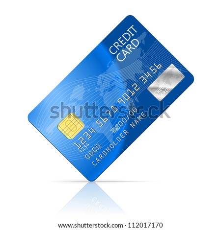 Illustration Credit Card Icon Isolated on white - stock vector