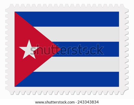 illustration Cuba flag stamp - stock vector