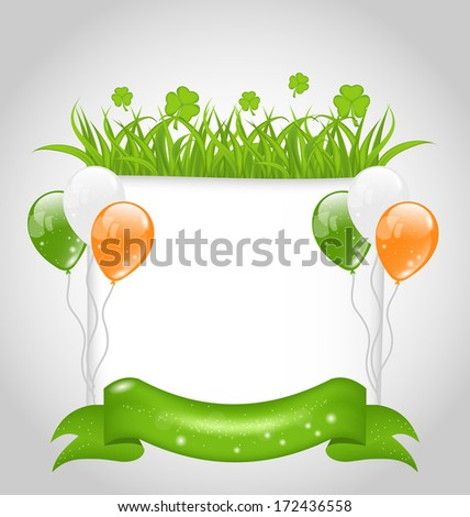 Illustration cute nature background for St. Patrick's Day - vector