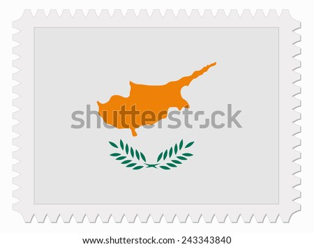illustration Cyprus flag stamp - stock vector