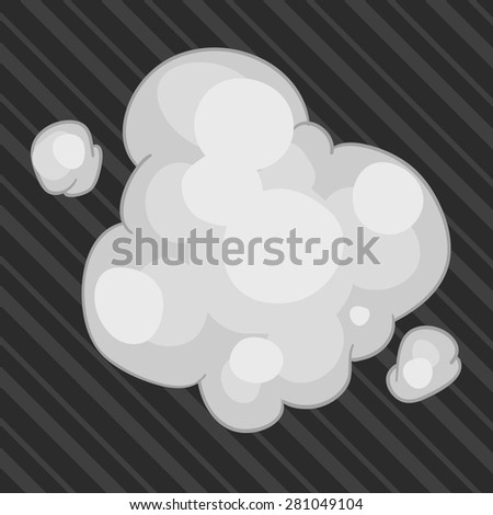 illustration 2d smoke&dust. - stock vector