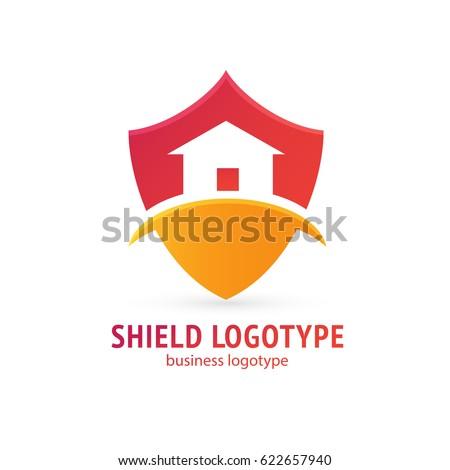 Shield House logo design abstract shield house vector stock vector 622656392