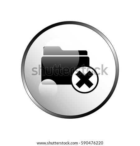Illustration Folder X Sign Stock Vector 590476220 Shutterstock