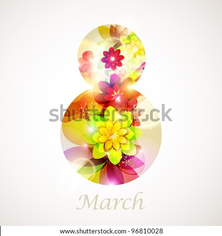 Illustration for 8 march - stock vector