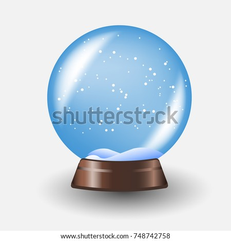Illustration for the new year snow globe
