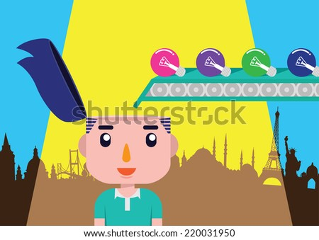 Illustration for webdesign and other job about travel and inspiration - stock vector