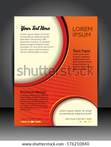 Illustration for your business presentations. Brochure design template, vector background - stock vector