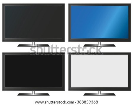 Illustration Graphic Vector Flatscreen with Copyspace for the creative use in graphic design - stock vector