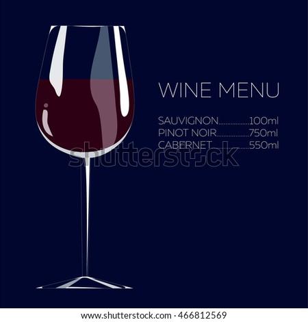Illustration Hand Drawing Red Wine Menu Stock Vector HD (Royalty ...