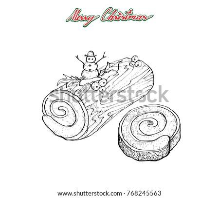 Illustration Hand Drawn Sketch Traditional Christmas Stock Vector ...