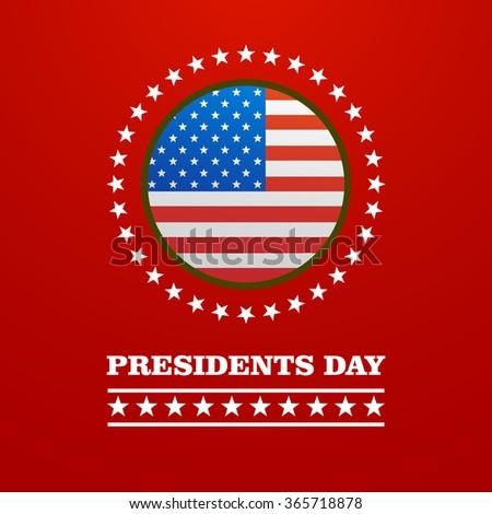 illustration Happy Presidents Day - stock vector