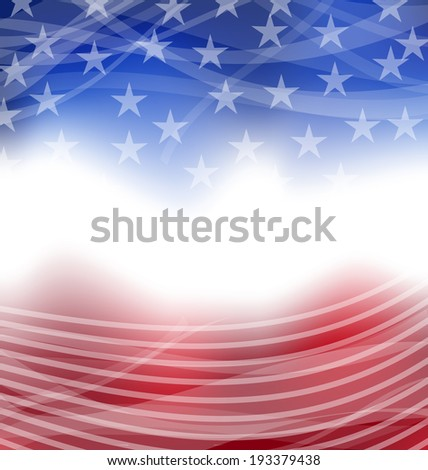Illustration happy 4th of july card with place for text - vector - stock vector