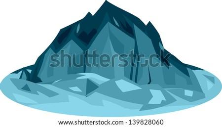 illustration iceberg - stock vector
