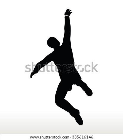 illustration silhouette businessman hanging stock vector 335616146