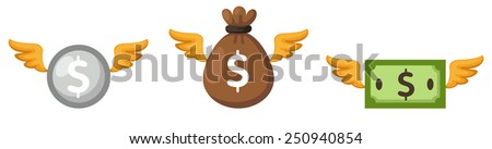 illustration isolated colorful money vector - stock vector