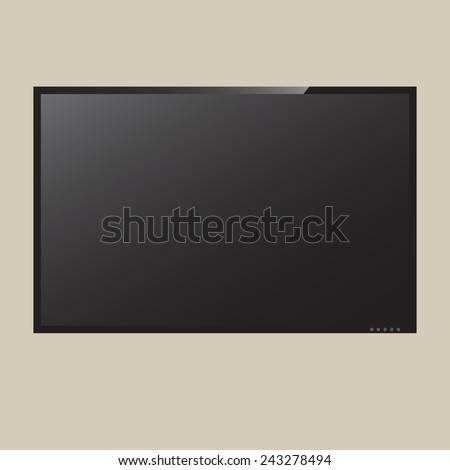 Illustration LCD or LED tv screen - stock vector