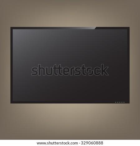 Illustration LCD or LED tv screen - stock vector