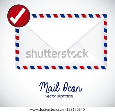 Illustration mail icon. illustration of letter mail. vector illustration