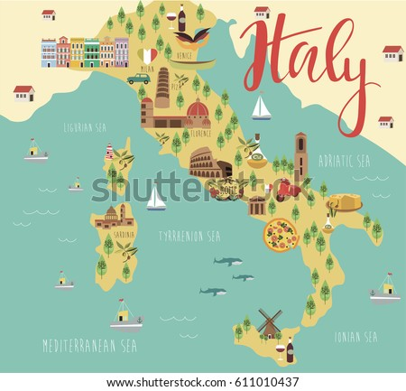 Italy Map Stock Images RoyaltyFree Images Vectors Shutterstock - Map of italy