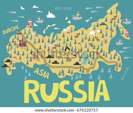Russia Map Stock Images RoyaltyFree Images Vectors Shutterstock - Russia mao