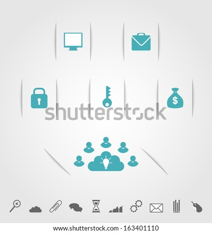Illustration modern design infographics element template - vector - stock vector