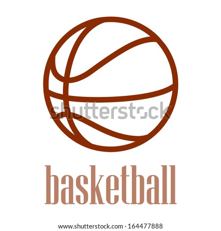 illustration of a basketball - stock vector