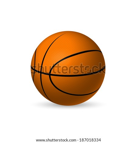 Illustration of a basketball isolated on a white background. - stock vector