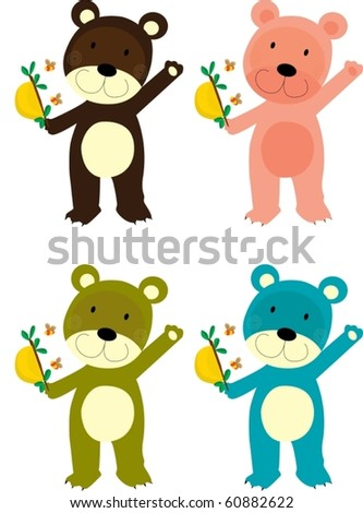 illustration of a bears on a white background