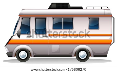 Illustration of a big bus for transportation on a white background
