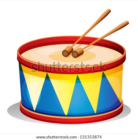 Drums - silhouette and outline, vector art image illustration ... White Drum Set Silhouette