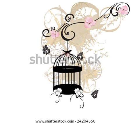 Illustration of a birdcage