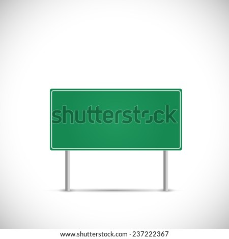 Illustration of a blank road sign isolated on a white background.