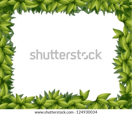 Illustration of a border made out of leaves - stock vector