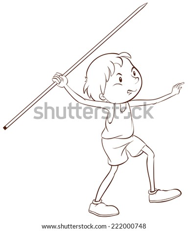 Illustration of a boy doing athletic