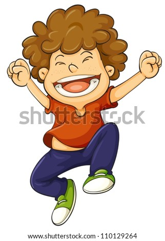 illustration of a boy on a white background - stock vector